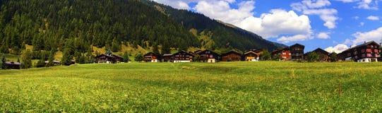 Biel瑞士山中的牧人小屋在夏天,伯尔尼小行政区,瑞士 库存图片