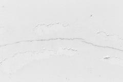 Biel ściana, biel ściana z pęknięciami dla tła Obraz Royalty Free