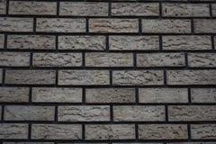 biel ściana cegły z szarym odcień cegły tłem obrazy royalty free