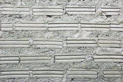 Biel ściana od cegieł dla tła Zdjęcie Stock