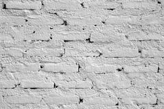 Biel ściana od cegieł dla tła Obrazy Stock