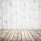 Biel ścienna i drewniana podłoga, abstrakcjonistyczny wnętrze obraz royalty free