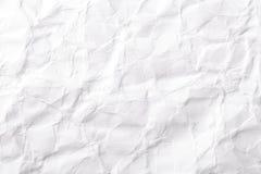 Biel barwiąca marszcząca papierowa tekstura Obraz Stock