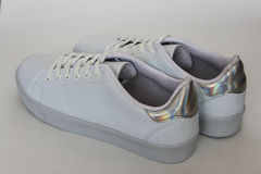 Biel buty Obrazy Stock