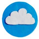 Biel chmura na błękitnym tle Obraz Royalty Free