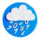 Biel chmura na błękitnym tle Fotografia Stock
