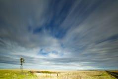 Chmury nad polami Obrazy Stock