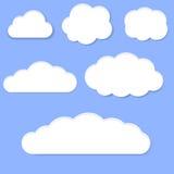Biel chmury Obrazy Stock