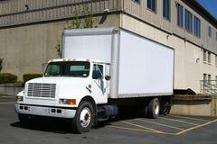 Biel ciężarówka przy dokiem Obraz Royalty Free