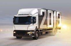 Biel ciężarówka z 2019 zdjęcie stock