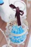 Biel Dekorująca klatka Zdjęcia Royalty Free