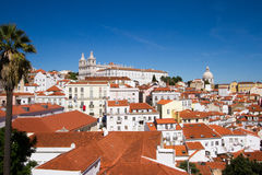 Biel domy w Lisbon Obraz Royalty Free