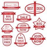 Biel etykietki z czerwieni ramą Zdjęcie Royalty Free