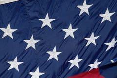 Biel gwiazdy w polu błękit--Amerykański patriotyzm obraz royalty free