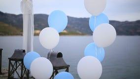 Biel i błękit szybko się zwiększać ślub zdjęcie wideo
