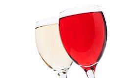 Biel i czerwone wino Fotografia Royalty Free