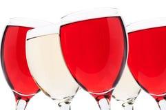Biel i czerwone wino Obraz Stock
