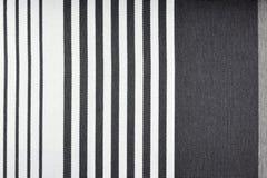 Biel i popielata tkanina szczegółu tekstura Obrazy Stock