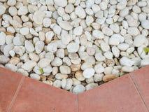 Biel kamienie dla ogrodowej dekoraci obrazy stock