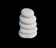 Biel kamienie w równowadze Obrazy Stock