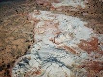 Biel kieszeń, Vermilion falez Krajowy zabytek, Arizona Zdjęcia Royalty Free