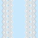 Biel koronka graniczy z cieniem, ornamentacyjne papierowe linie, Signboard imię Romantyczny ślubny zaproszenie ilustracji