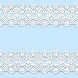 Biel koronka graniczy z cieniem, ornamentacyjne papierowe linie, wektor ilustracja wektor
