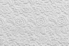 Biel koronka z małymi kwiatami Żadny jakaś znak firmowy lub ogranicza sprawę w ten fotografii fotografia stock