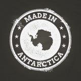 Biel kredowa tekstura robić w znaczku z Antarctica ilustracji