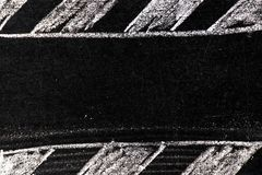 Biel kredy ręki rysunek w lampasie z kopii przestrzeni kształtem na blackboard royalty ilustracja