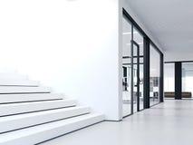 Biel kroki w jaskrawym biurze świadczenia 3 d ilustracji