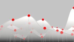 Biel krzywy mapy, kreskowego wykresu lub czerwieni kropki Zdjęcie Royalty Free