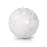 Biel kuli ziemskiej 3D północ i południe Ameryka Marmurowa ilustracyjna mapa Zdjęcie Stock