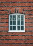 Biel malujący drewniany okno Fotografia Stock