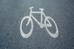 Bicyklu znak Fotografia Stock