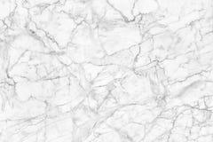 Biel marmurowa tekstura, wyszczególniająca struktura marmur w naturalny wzorzystym dla tła i projekt, Obrazy Royalty Free