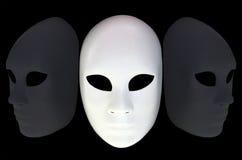 Biel maska Fotografia Stock