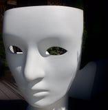 Biel maska osoba Fotografia Royalty Free