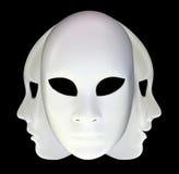 Biel maski Obraz Royalty Free