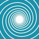 Biel na błękit spirali zawijasie royalty ilustracja