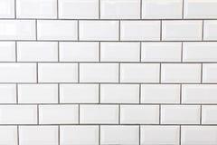 Biel płytki ściana Obrazy Stock