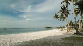 Biel plaża Filipiny - Malapascua wyspa - obrazy stock