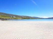Biel pluskocząca plaża na wyspie Harris obrazy royalty free