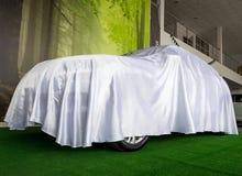 Biel pokrywa chuje nowego samochód Fotografia Royalty Free