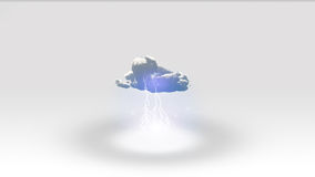 Biel przestrzeń z chmurą Zdjęcie Royalty Free