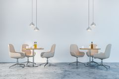 Biel przewodniczy jadalni lub kawiarni wnętrze ilustracji