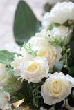 Biel róży dekoracja w restauraci zdjęcie royalty free