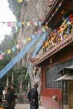 Biel rockowa świątynia w Sichuan, porcelana Obrazy Royalty Free