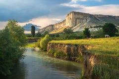 Biel skała w Crimea Zdjęcie Royalty Free