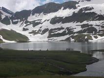Biel szczytowy jezioro fotografia royalty free